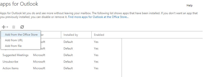 Installing Outlook Add-in